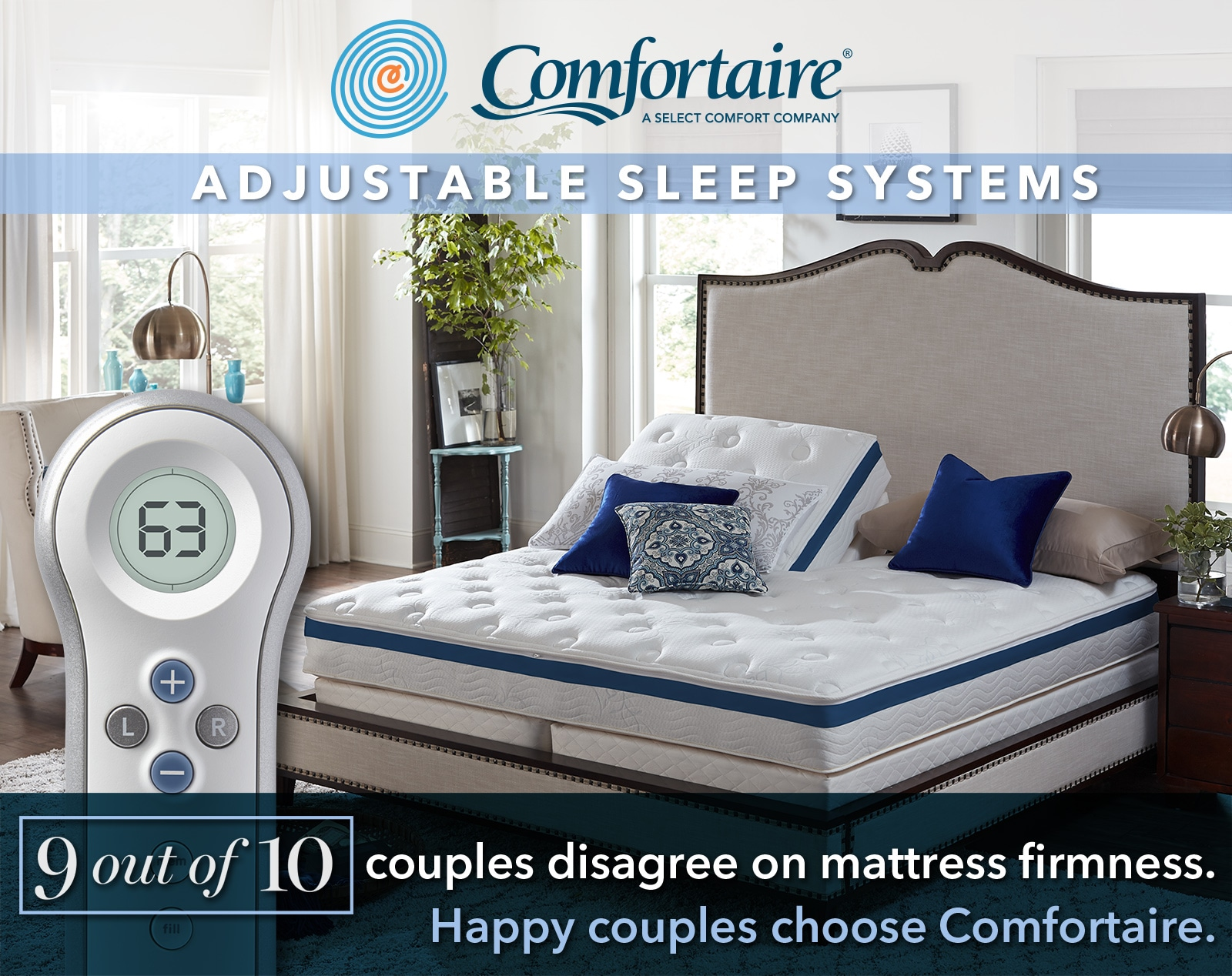 Hazouri Adjustable Beds: Home and Patio Specials on ALL Comfortaire® products are now in effect. - Happy Couples choose Comfortaire® adjuable beds.